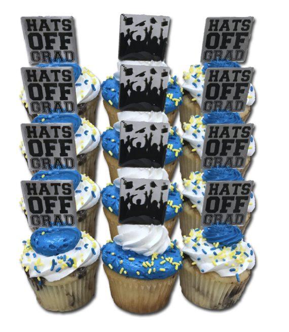 12 pack grad cupcakes 1