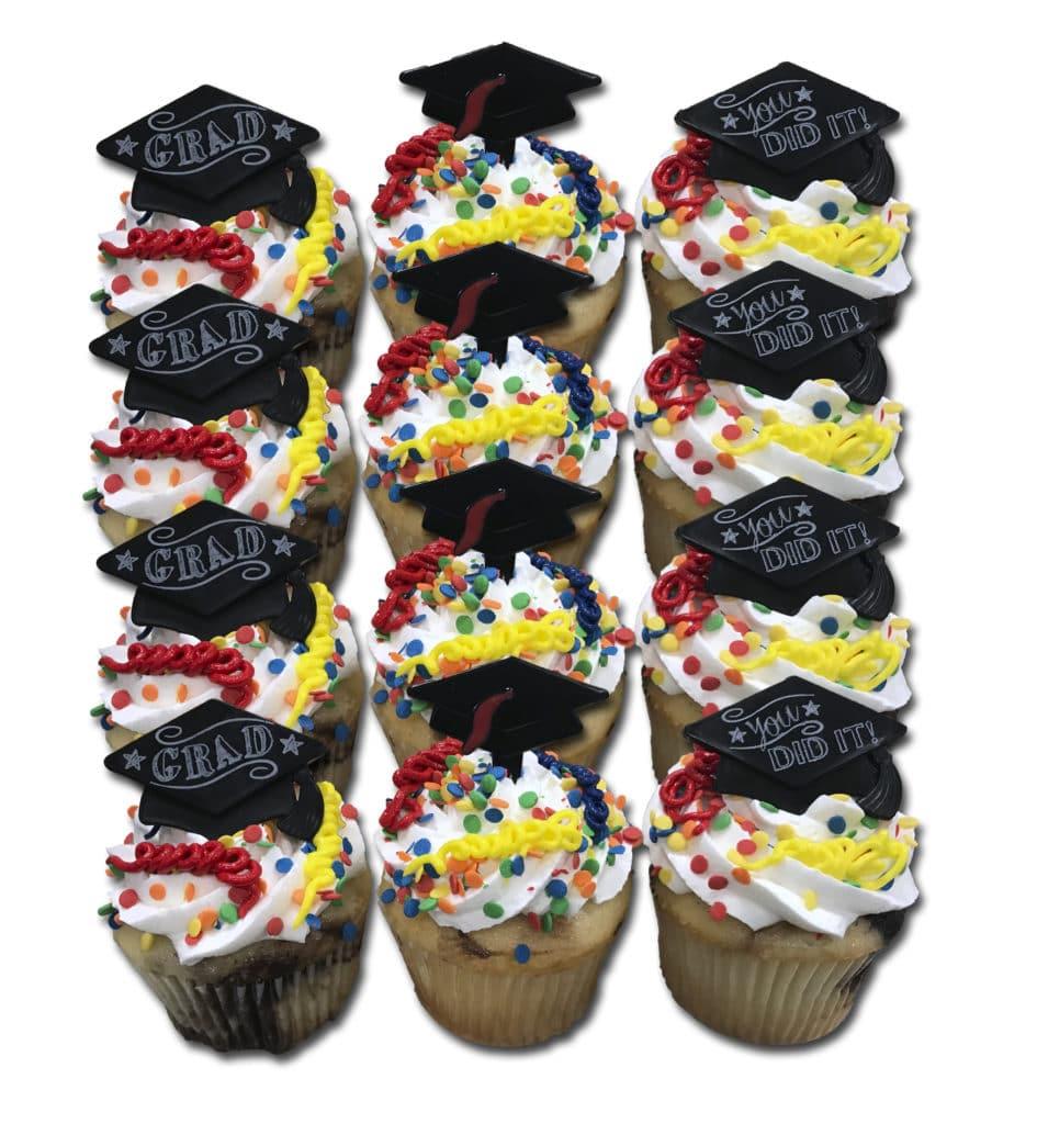 Graduation Cupcakes 2- 12 Count Standard Size