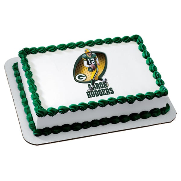 Birthday Cake 111 Nfl Green Bay Packers Aaron Rodgers 4896 Aggie S Bakery Cake Shop