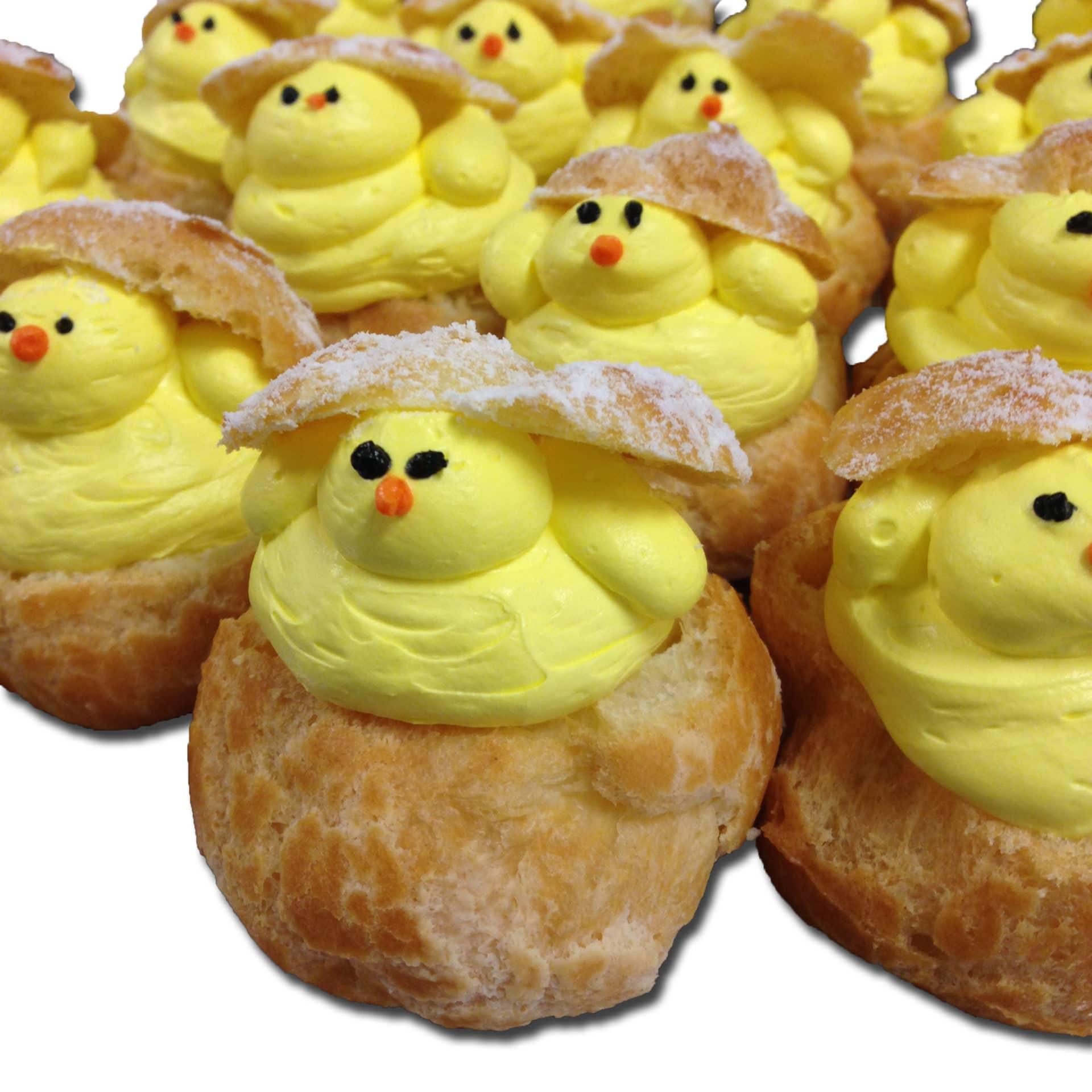 cream puff chicks mini 12 pack aggie s bakery cake shop