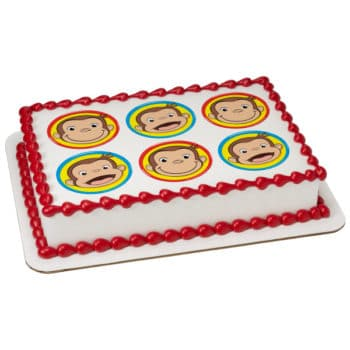 curious george kids cake