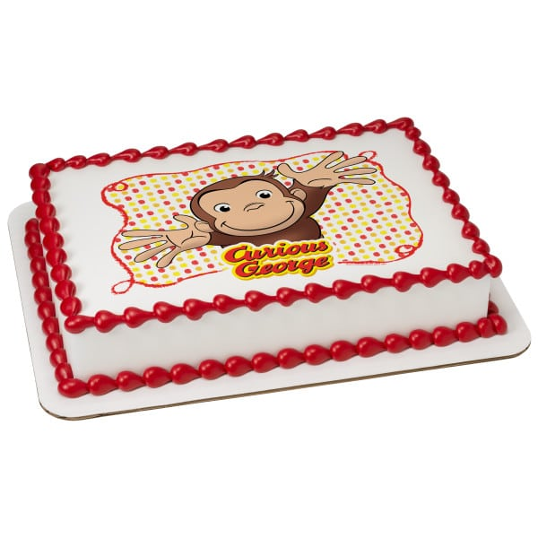 Admirable Kids Character Cake Curious George Lets Celebrate 7504 Funny Birthday Cards Online Sheoxdamsfinfo