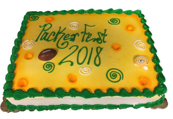 Cool Birthday Cake 124 Packers Color Inspired Aggies Bakery Cake Funny Birthday Cards Online Sheoxdamsfinfo