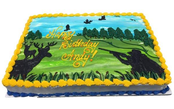 Astounding Birthday Cake 131 Hunting Scene Aggies Bakery Cake Shop Personalised Birthday Cards Epsylily Jamesorg