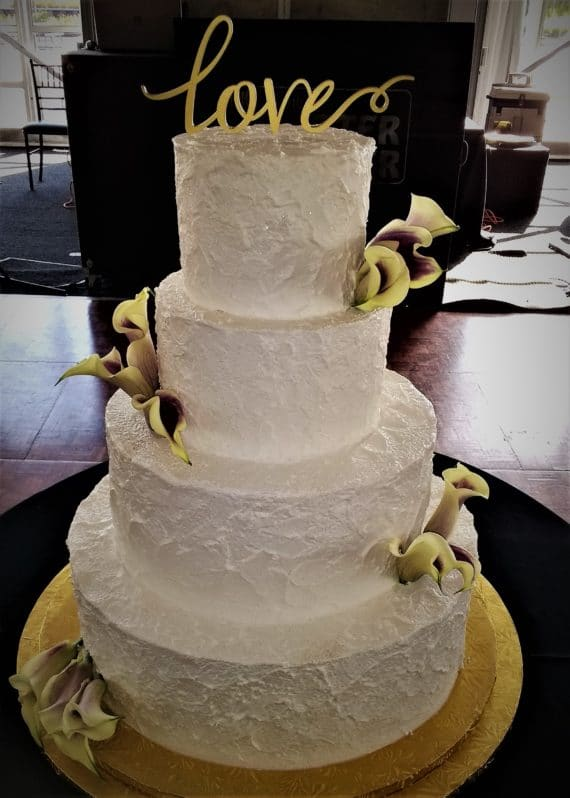 four tiered cakes