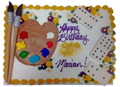 dominoes art cake