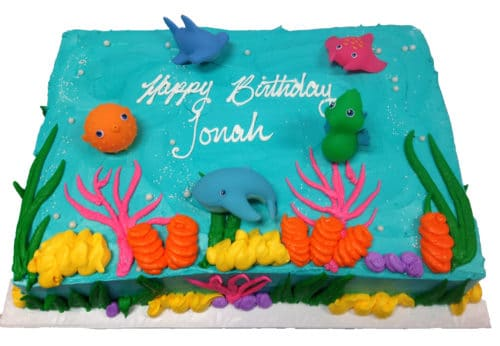 Strange Birthday Cake 99 Sea Animals Ocean Theme Aggies Bakery Cake Funny Birthday Cards Online Overcheapnameinfo