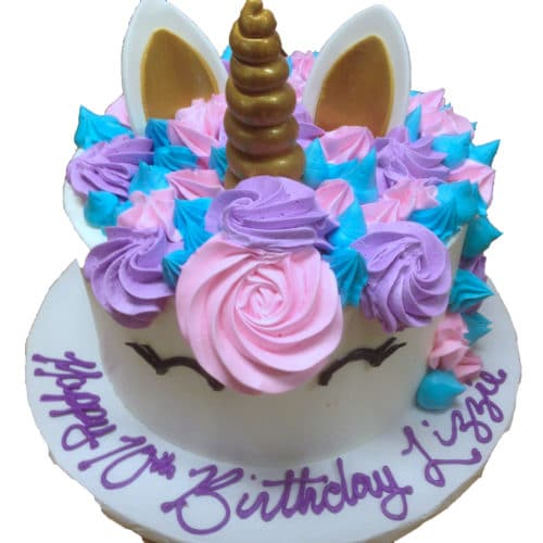 Superb Kids And Character Cake 46 Unicorn Cake Fondant Horn Ears Funny Birthday Cards Online Alyptdamsfinfo