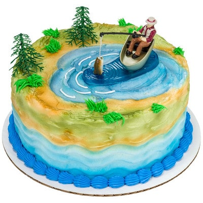 Cool Birthday Cake Fisherman With Action Fish Round 16334 Aggies Funny Birthday Cards Online Alyptdamsfinfo