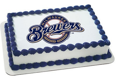 Terrific Kids And Character Cake Mlb Milwaukee Brewers 4671 Aggies Funny Birthday Cards Online Sheoxdamsfinfo