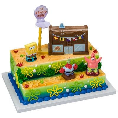 Enjoyable Kids And Character Cake Spongebob Squarepants Krusty Krab 14917 Funny Birthday Cards Online Alyptdamsfinfo
