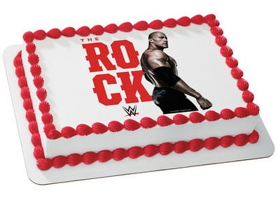 Incredible Kids And Character Cake Wwe The Rock 7177 Aggies Bakery Cake Shop Funny Birthday Cards Online Alyptdamsfinfo