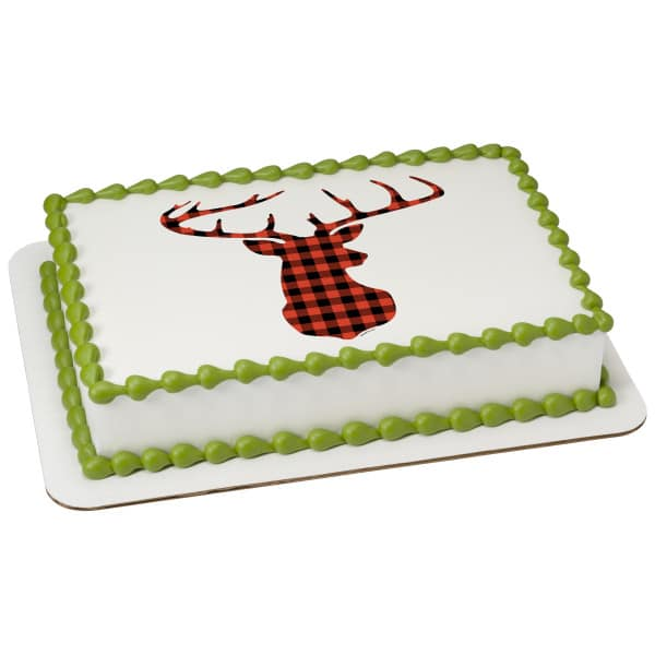 Magnificent Birthday Cake 108 Red Check Plaid Deer 20425 Aggies Bakery Birthday Cards Printable Inklcafe Filternl