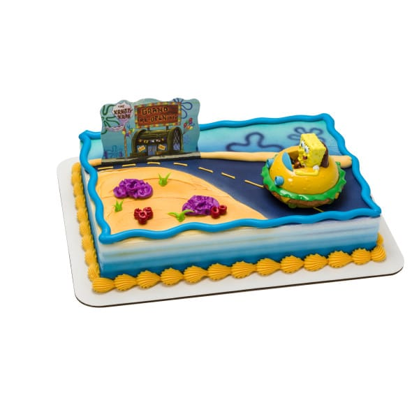 Swell Kids And Character Cake Spongebob Squarepants Krabby Patty 6086 Funny Birthday Cards Online Alyptdamsfinfo