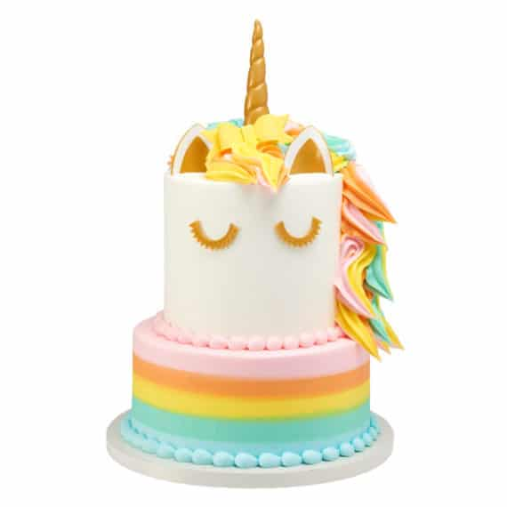 colorful unicorn cake