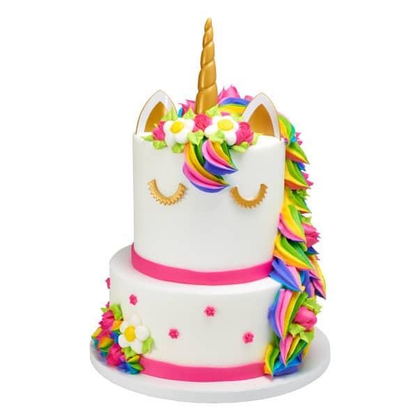 Brilliant Two Tier Cake 15 Unicorn 22646 Plastic Horn Ears Aggies Personalised Birthday Cards Veneteletsinfo