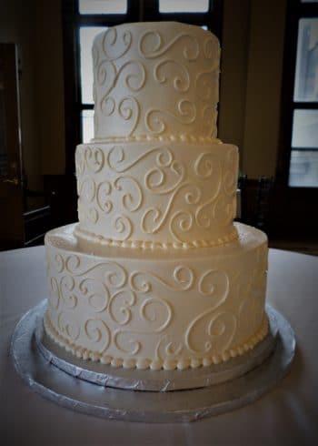 textured design tiered cake