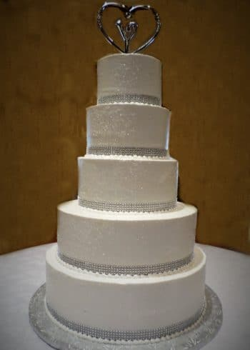 5 tiered white cake