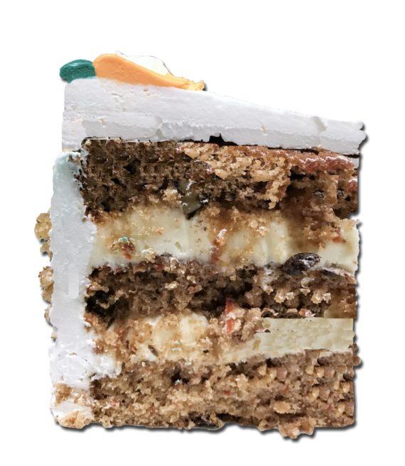carrot torte slice