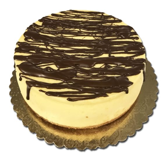 chocolate-drizzle-plain-cheesecake
