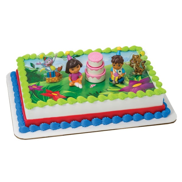 Swell Kids And Character Cake Dora The Explorer Birthday Celebration Funny Birthday Cards Online Alyptdamsfinfo