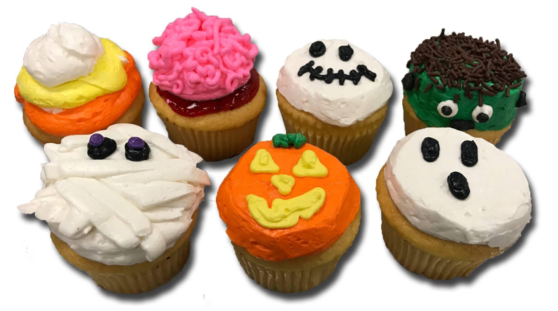 halloween cupcakes, white (dozen) - aggie's bakery & cake shop