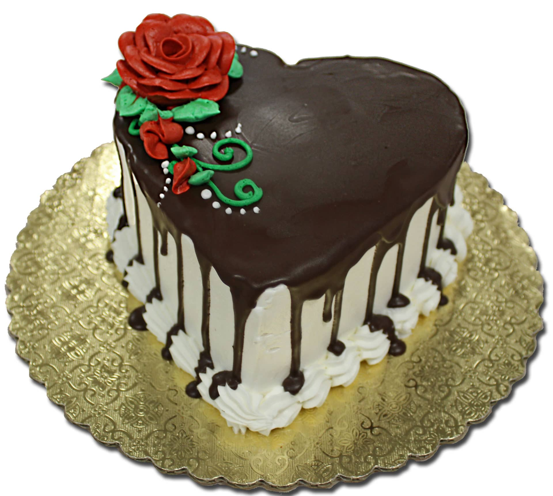 Ganache Poured Chocolate Heart Cake Double Layer Aggies Bakery