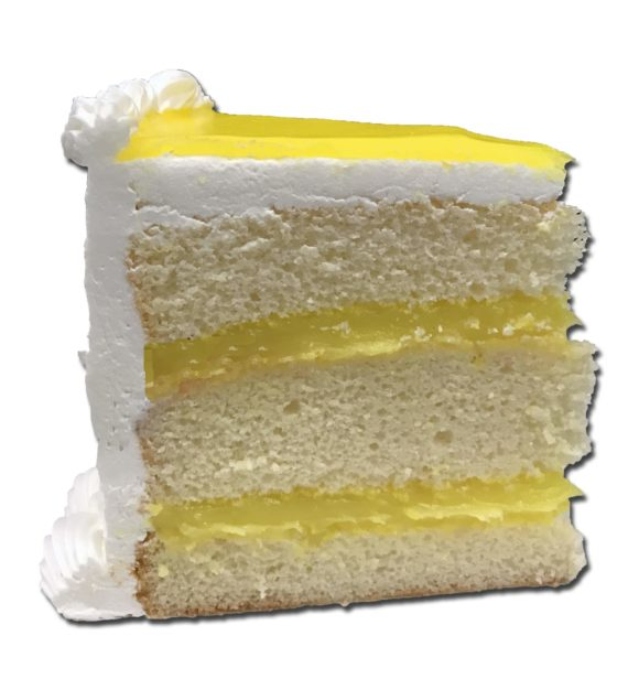 lemon torte slice