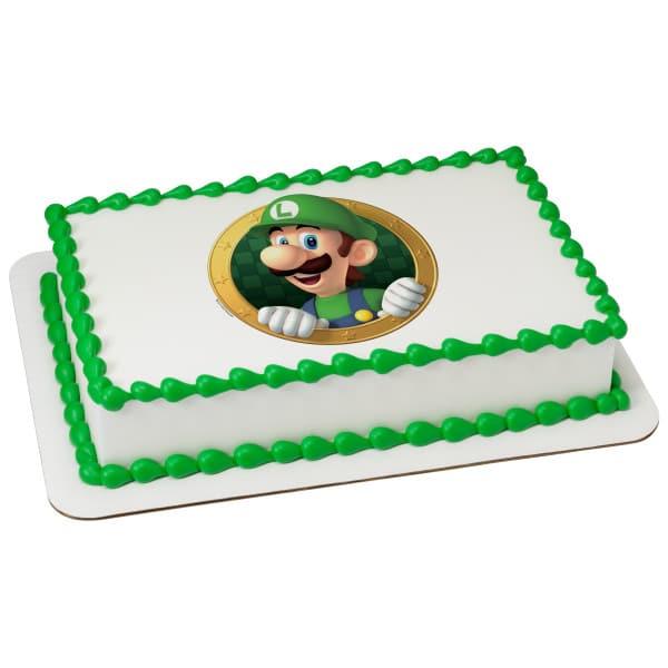 mario bros cake buttercream