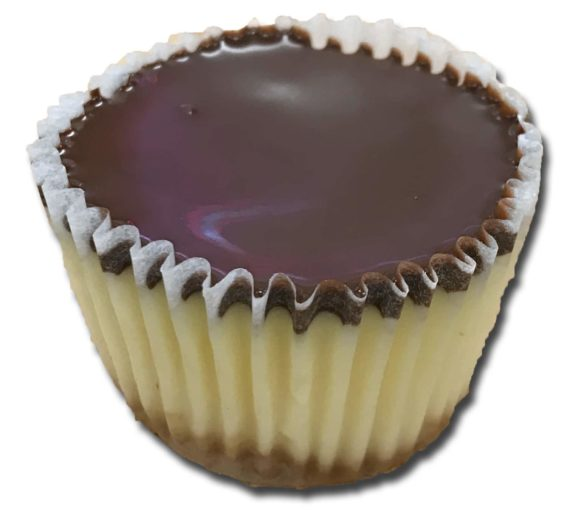 mini chocolate dipped cheesecake