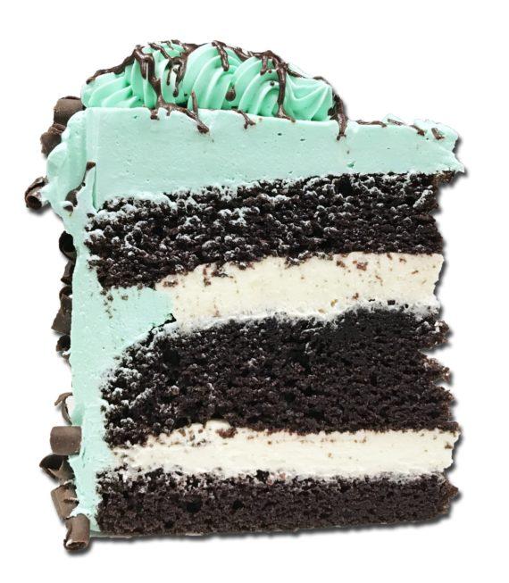 mint torte slice