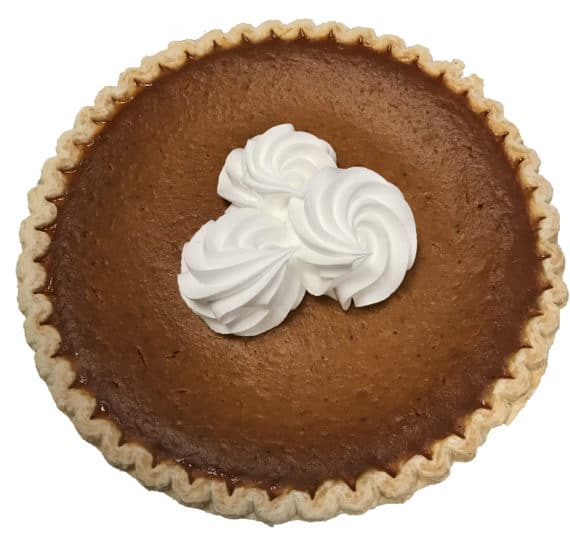 pumpkin pie with whip