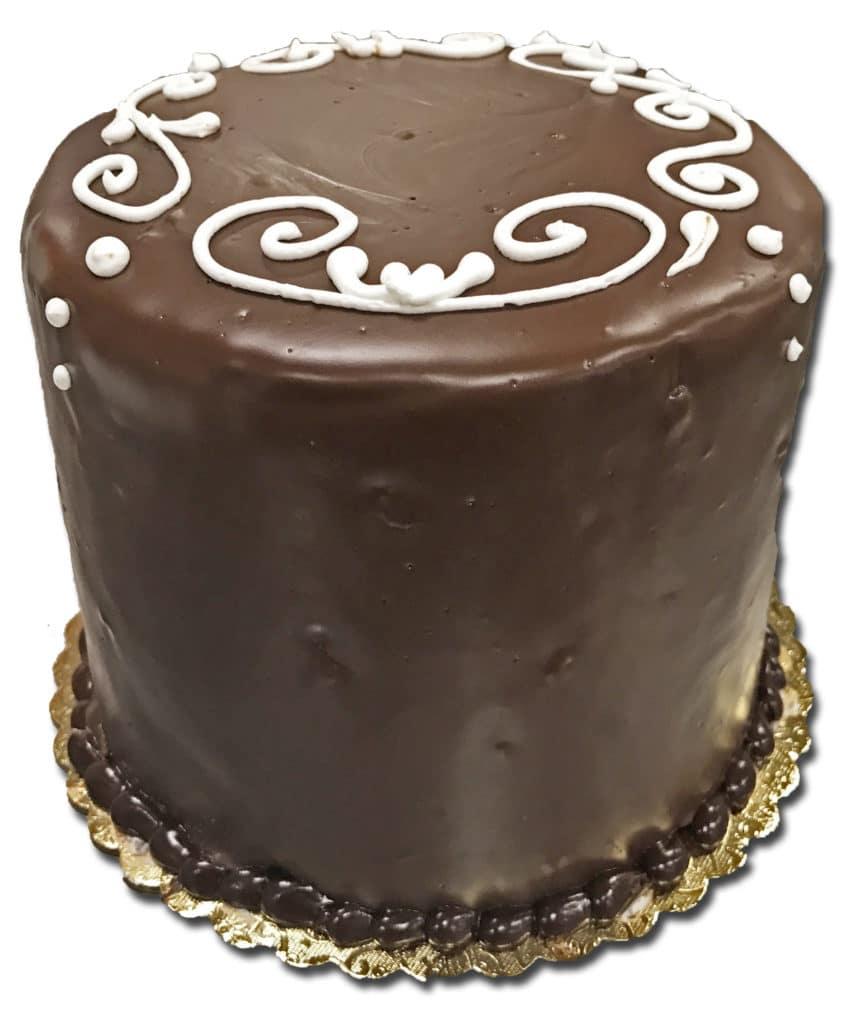 "Tuxedo French Cream Dessert Cake, 6"""