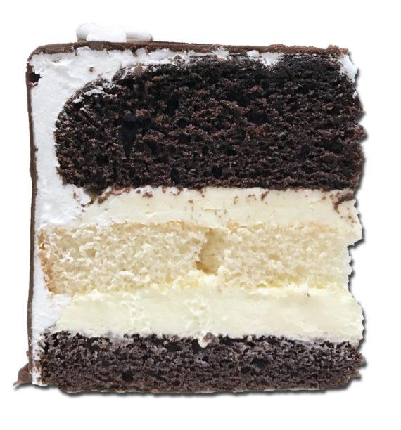 tuxedo torte slice