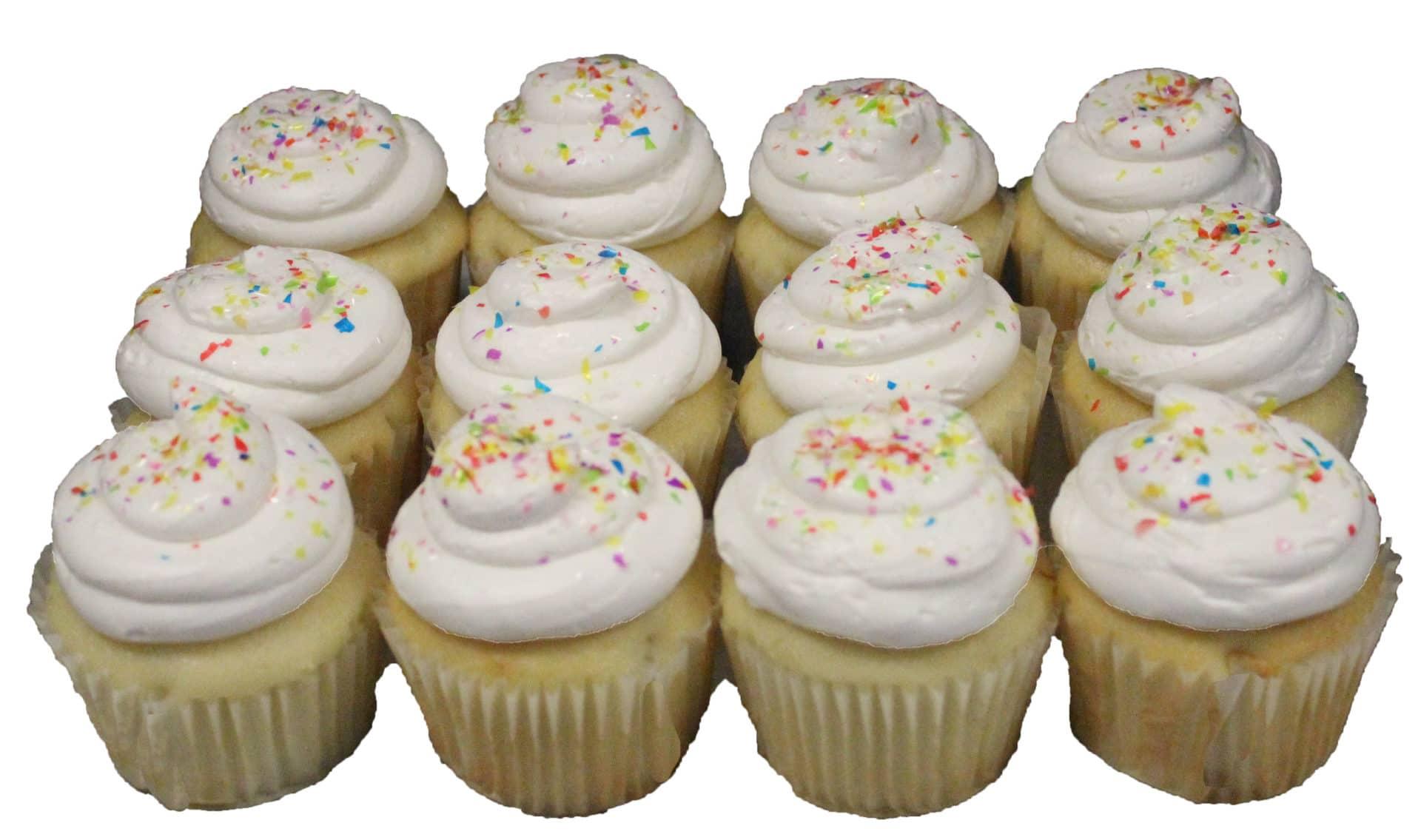 Regular Cupcakes White Dozen Aggie S Bakery Amp Cake Shop